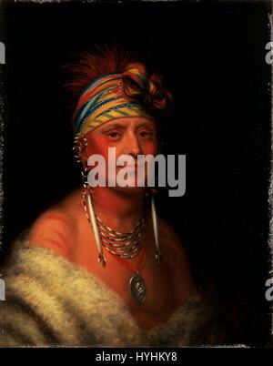 Charles Bird King   Shaumonekusse (Prairie Wolf), Oto   Google Art Project - Stock Image