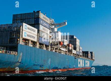 A container ship - Stock Image