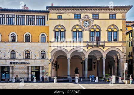 Piazza San Michele Lucca Tuscany Italy - Stock Image
