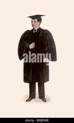 Scholar at Oxford - Stock Image