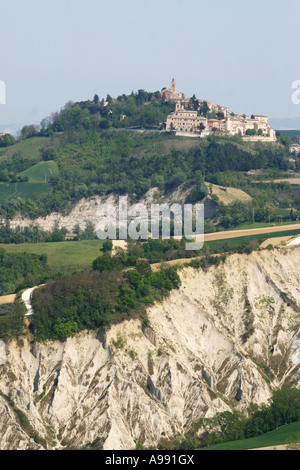 beautiful ,scenic and panoramic View from San Vittorio in Le Marche Italy - Stock Image