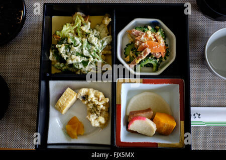 Directly Above Shot Of Food Served In Plate On Table - Stock Image