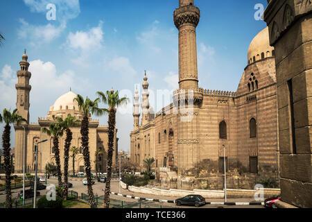 Mosque-Madrassa of Sultan Hassan, Mokattam Hill, Cairo, Egypt - Stock Image