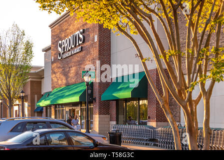 Sprouts Farmers Market grocery store in Metro Atlanta at The Shoppes at Webb Gin in Lawrenceville, Georgia. (USA) - Stock Image