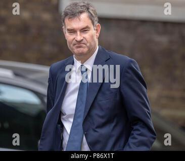 London 10th July 2018, , David Gauke, Justice Secretary,arrives at Cabinet meeting at 10 Downing Street, London Credit Ian Davidson/Alamy Live News - Stock Image
