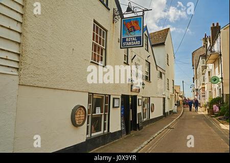 The Royal Standard public house in Lyme Regis Dorset. - Stock Image