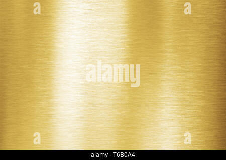 Gold metal brushed texture or plate - Stock Image