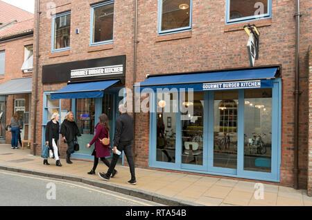 Gourmet Burger Kitchen restaurant (closed April 2019) Lendal York North Yorkshire England UK United Kingdom GB Great Britain - Stock Image