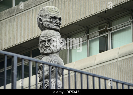 Sculpture 'Seven Ages Of Man'-Queen Victoria Street-London - Stock Image