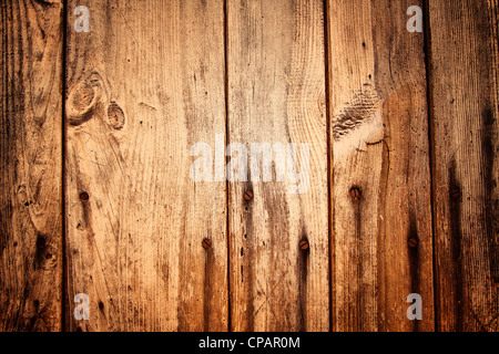 Old Wooden Planks and Nails - Stock Image