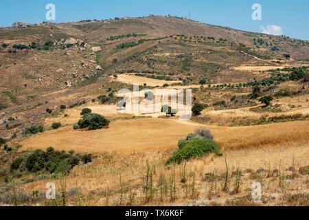 Farmland on the Akamas Peninsula, Pafos Region, Cyprus. - Stock Image