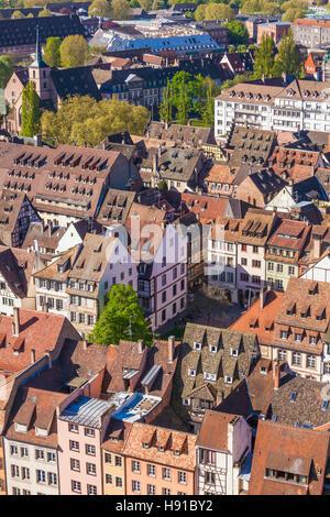 Frankreich, Elsass, Straßburg, Altstadt, Blick vom Münster - Stock Image