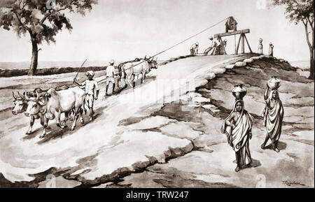 An Indian well.  After a work by J. Macfarlane. From a contemporary print c.1935. - Stock Image
