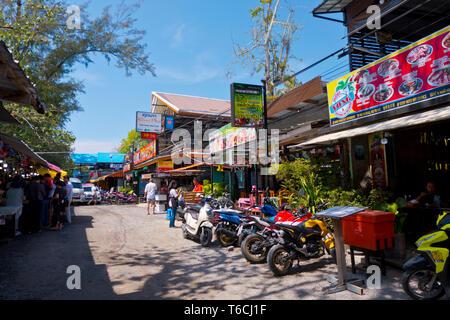 Walking street, Rawai, Phuket island, Thailand - Stock Image