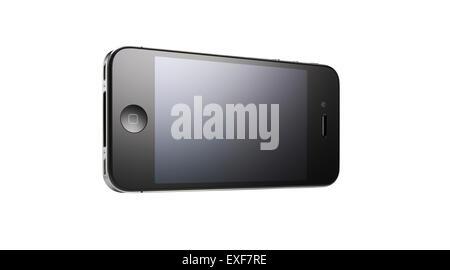 A iPhone shot at an interesting angle - Stock Image
