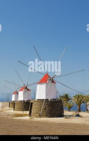 Windmills from Porto Santo Island, Madeira - Stock Image