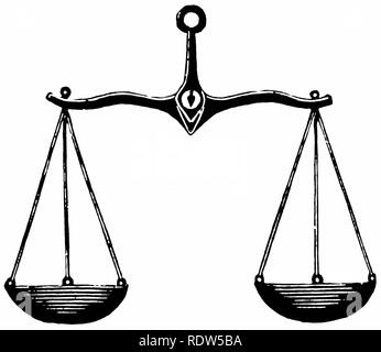 vintage clipart: scales, or balancence, or libra - Stock Image