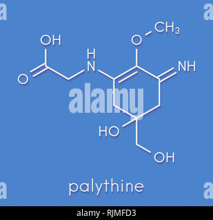 Palythine sunscreen molecule. Skeletal formula. - Stock Image