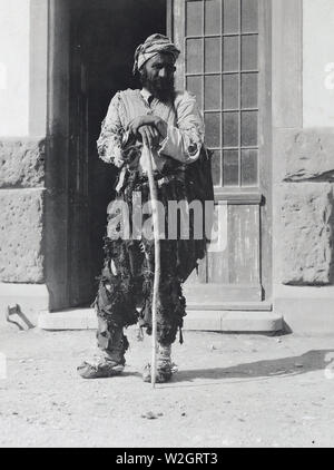 Typical type of a Turkish beggar, Oula Kichla, Turkey ca. 9/10/1919 - Stock Image