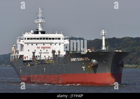 Emmy Schulte inbound port of Hamburg - Stock Image