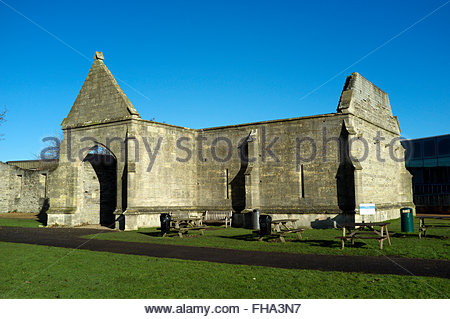Part of the ruin remains of Llanthony Secunda Priory, in the city of Gloucester, Gloucestershire, UK. - Stock Image