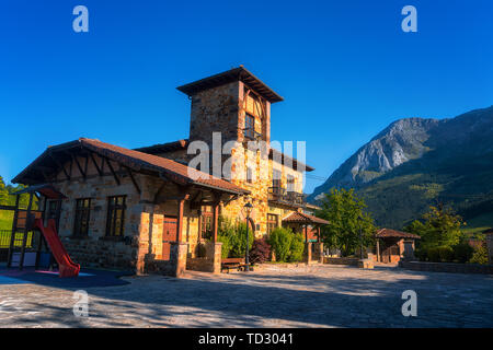 View of Axpe village in Atxondo. Basque Country. - Stock Image