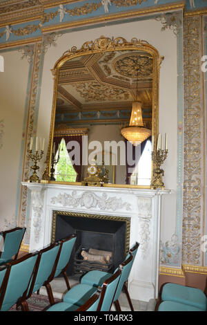 Inside Hylands House, Writtle, Chelmsford, Essex, UK - Stock Image