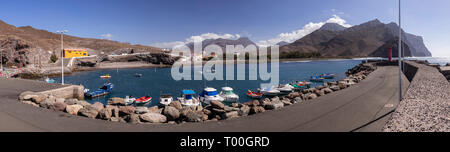 Panorama of Puerto de Aldea, Gran Canaria, Canary Islands - Stock Image