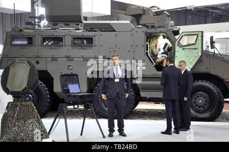Brno, Czech Republic. 29th May, 2019. The international trade fair of defence and security technology IDET, trade fair of security technology and services ISET and trade fair of firefighting technology PYROS in Brno, Czech Republic, May 29, 2019. Credit: Igor Zehl/CTK Photo/Alamy Live News - Stock Image