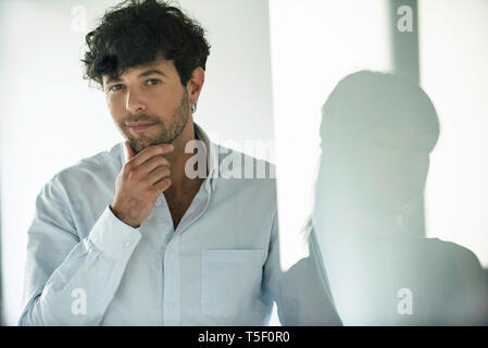 Business people standing in office - Stock Image