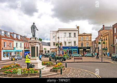 Wallingford (Oxfordshire, England): Marktplatz Market place - Stock Image
