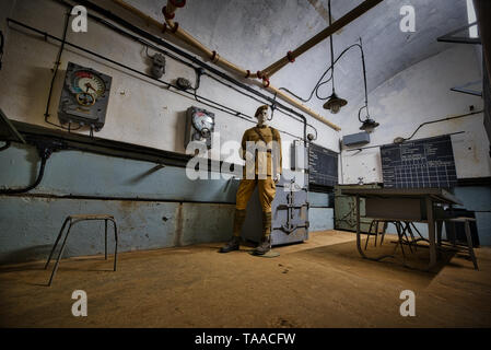 The Maginot Line, Ligne Maginot-Four a Chaux (Alsace-France) World War History - Stock Image
