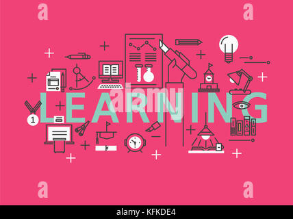 Infographic illustration related to LEARNING - Stock Image