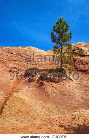 Ochre quarry in Roussillon (France) - Stock Image