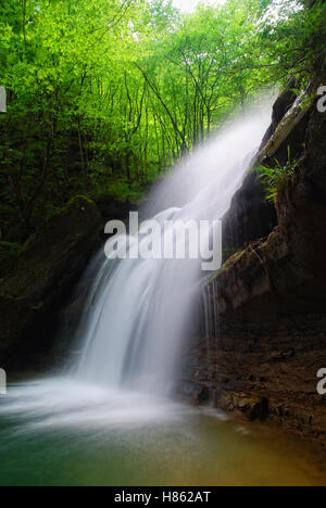 Cascade in the tropical forest - Stock Image