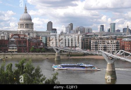 Millennium Bridge London June 2014 - Stock Image