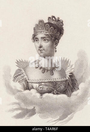 Empress Joséphine, born Marie Josèphe Rose Tascher de La Pagerie, 1763-1814.  First wife of Napoleon, and thus the first Empress of the French. - Stock Image