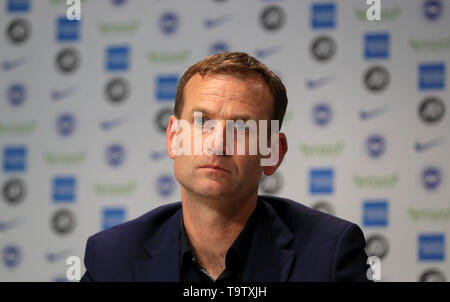 Brighton and Hove Albion technical director Dan Ashworth during a press conference at The American Express Elite Football Performance Centre, Brighton. - Stock Image