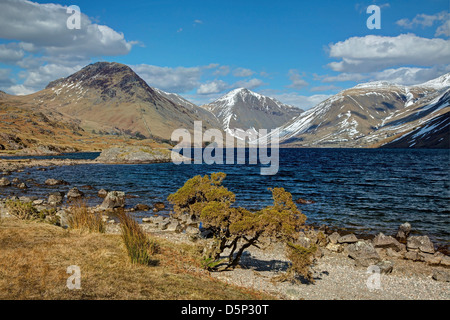 Wastwater in Early Spring Sunshine - Stock Image