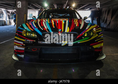 BMW M3 GT2 by Jeff Koons, 2010, BMW Art Cars exhibition, 35 Great Eastern Street, Shoreditch, London, England