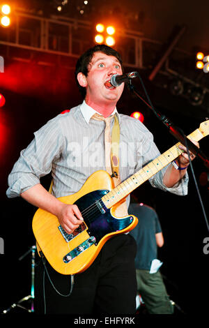 Young Knives live at Underage Festival in Victoria Park London. - Stock Image