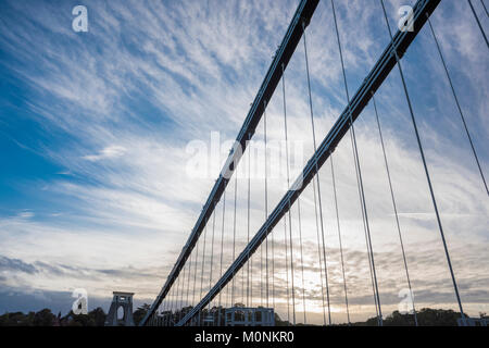 The Clifton Suspension Bridge, Bristol, England - Stock Image