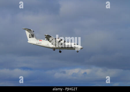 UN aircraft in the sky - Stock Image