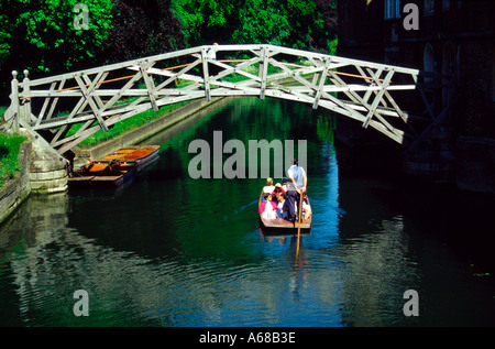 Punting on the River Cam Cambridge England - Stock Image
