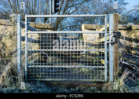 Gate Across the Bridge - Stock Image
