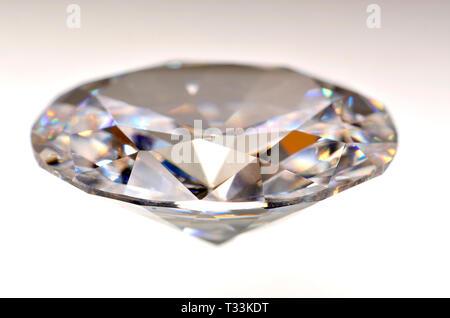 Oval-cut Diamond (synthetic - cubic zirconia) - Stock Image