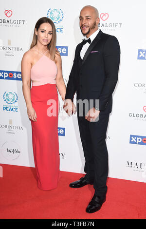 London, UK. 08th Apr, 2019. LONDON, UK. April 08, 2019: Katie Piper arriving for the Football for Peace initiative dinner by Global Gift Foundation at the Corinthia Hotel, London. Picture: Steve Vas/Featureflash Credit: Paul Smith/Alamy Live News - Stock Image
