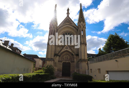 Neo Gothic Chapel of Saint-Joseph in Beauvais, France - Stock Image