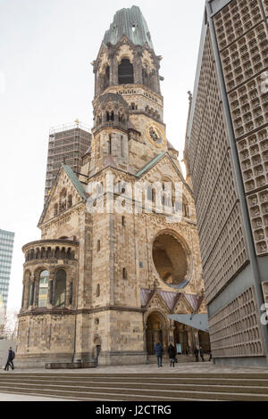 Germany, Berlin. The old and new Kaiser Wilhelm Memorial Churches. Credit as: Wendy Kaveney / Jaynes Gallery / DanitaDelimont.com - Stock Image