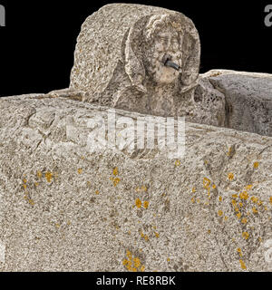 Horse Trough and Drinking Fountain Herculaneum Italy - Stock Image
